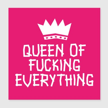 Queen of fucking alt plakat - Poster 20x20 cm