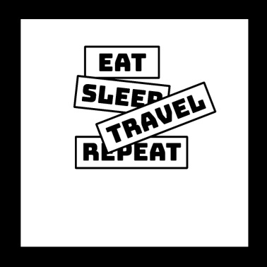 Eat Sleep Repeat Travel - Poster 20x20 cm