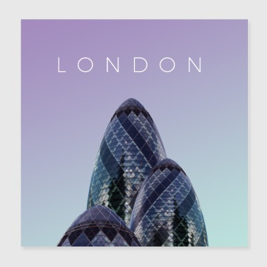 London plakat - Poster 20x20 cm