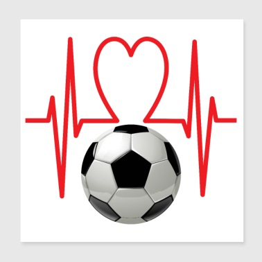 Football heart - Poster 20x20 cm