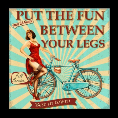Bicycle - Put the fun between your legs - Poster 20x20 cm