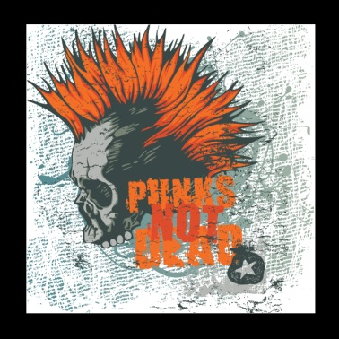 Punks not dead Punker fancy gift fun - Poster 20x20 cm