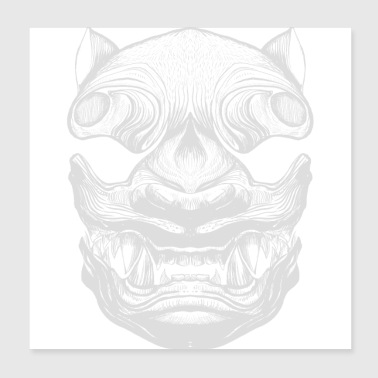 Japanese Tiger - Poster 20x20 cm