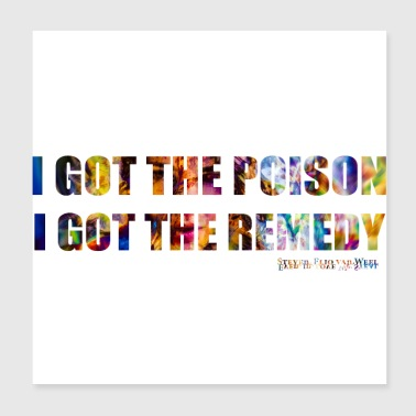 I GOT THE POISON IGOT THE REMEDY - Poster 20 x 20 cm