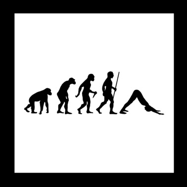 Evolution Yoga - Poster 20x20 cm