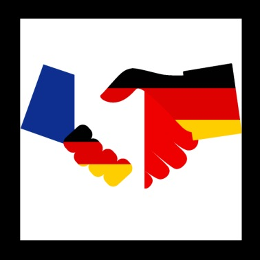 Germany France Friendship - Poster 20x20 cm