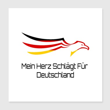 Heart germany eagle - Poster 20x20 cm