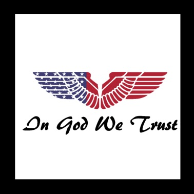 USA In God We Trust Motto Adler - Poster 20x20 cm