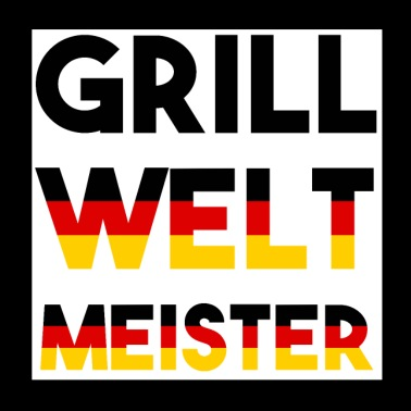 Grill World Champion lettering Germany Grilling - Poster 20x20 cm