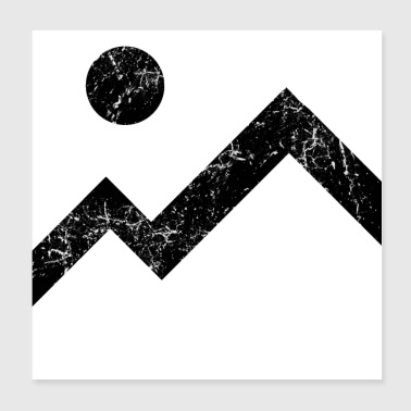 Mountain and sun - Poster 20x20 cm