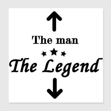 The Legend - Poster 20x20 cm
