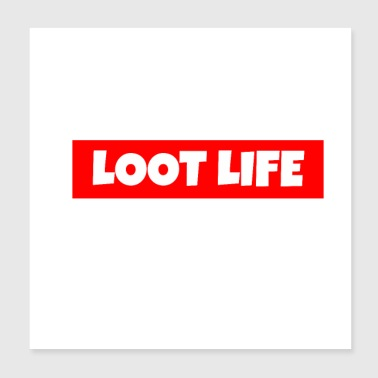 LOOT LEVEN - Poster 20x20 cm
