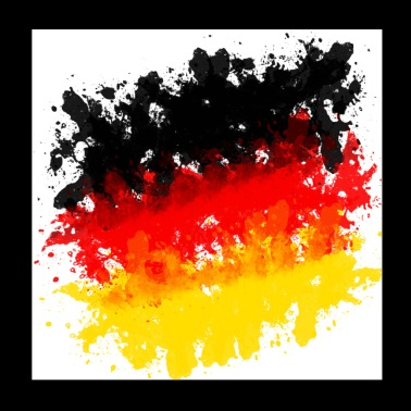 Germany jersey flag grunge brush football - Poster 20x20 cm