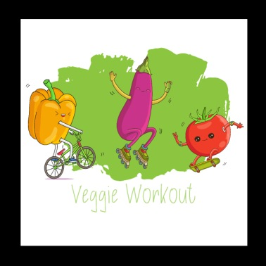 Fitness Workout - Veggie Style for Vegan Athletes - Poster 20x20 cm