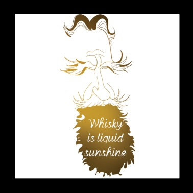 Whisky is liquid sunshine - Poster 20x20 cm