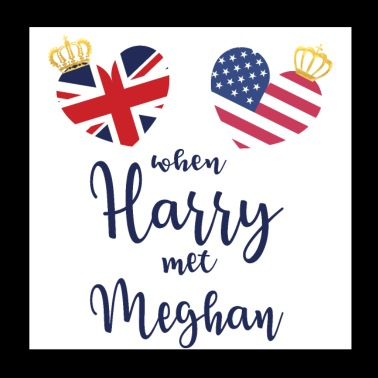 Royal Wedding Crown - Poster 20x20 cm