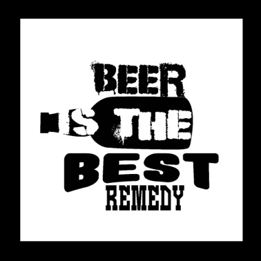 The best remedy is beer - Poster 20x20 cm