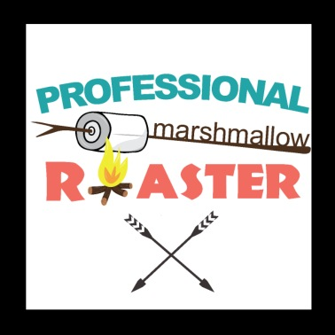 Professionele Marshmallow Griller - Poster 20x20 cm