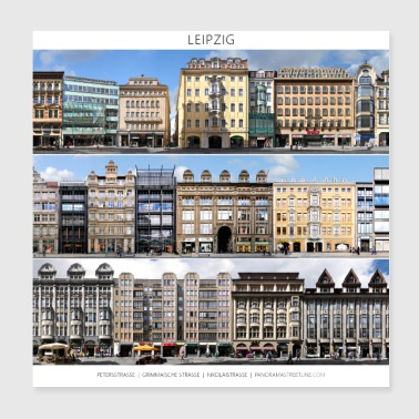 Leipzig Street Fronts 1 - Poster 20x20 cm
