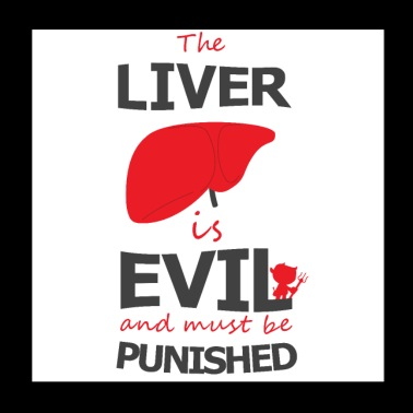The liver has to be beaten - Poster 20x20 cm