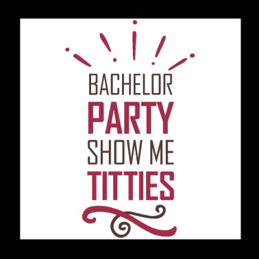 Bachelorette party shows breasts - Poster 20x20 cm