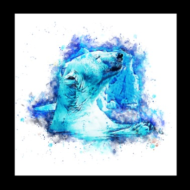 gxp polar bear polar bear enjoyer splatter watercolor - Poster 20x20 cm