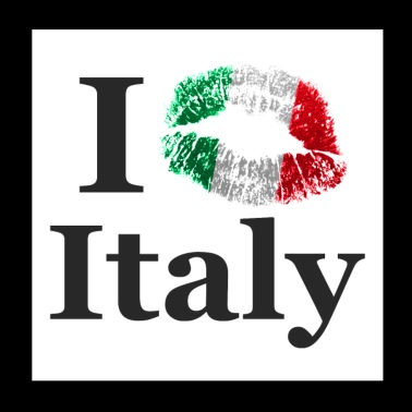 I Kiss Italy - Poster 20x20 cm