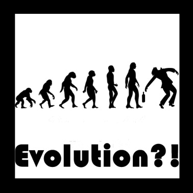 Evolution theory drunk - Poster 20x20 cm