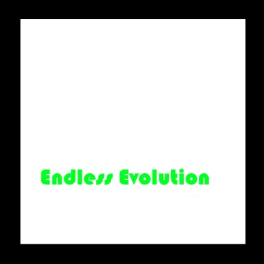 Endless Evolution white - Poster 20x20 cm