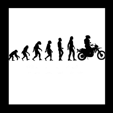 Evolution Motorcycle - Poster 20x20 cm