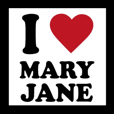 I love Mary Jane - Poster 20x20 cm