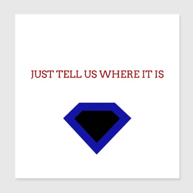 Temptation diamond design - Poster 20x20 cm