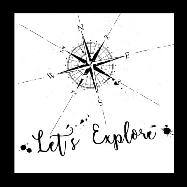 Let's explore Compass - Poster 20x20 cm