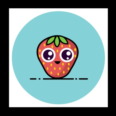 strawberry - Poster 20x20 cm