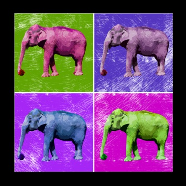 Elephant Popart Africa Animals Animal Lovers - Poster 20x20 cm