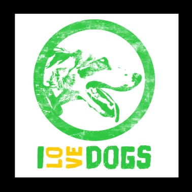 Dog Dogs animals - Poster 20x20 cm