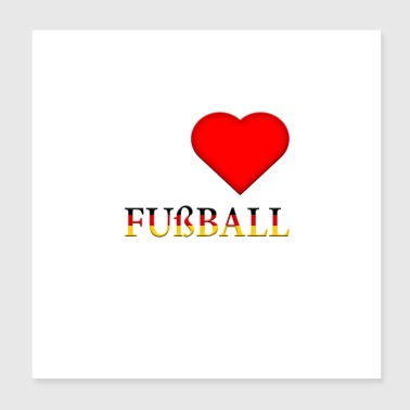 Football Germany gift - Poster 20x20 cm