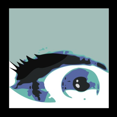 Eye painting blue eyes - Poster 20x20 cm