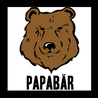 Papabär Father's Day Gift Idea Bear Animal - Poster 20x20 cm