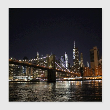 new york at night new years eve 2018 - Poster 20x20 cm