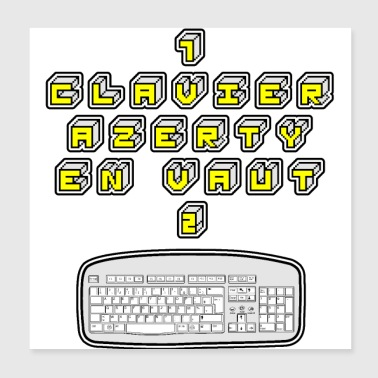 1 KEYBOARD AZERTY IN VAUT 2 - GAMES OF WORDS - Poster 20x20 cm