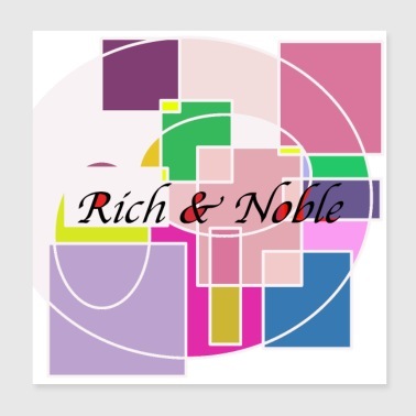 Artwork artwork rich and noble - Poster 20x20 cm