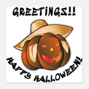 Greeting Halloween greetings - Poster