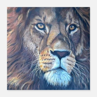 Toddler Africa, Gift, Animal, Lion's Head, gift idea, Leo - Poster
