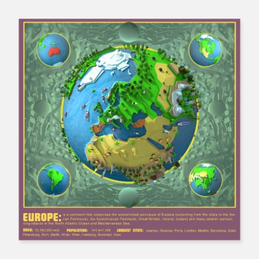 Europe Affiche Europe Low Poly - Poster