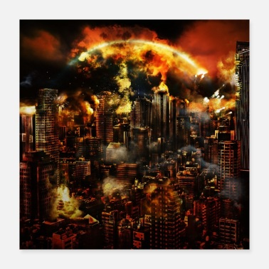 Nucleare END TIME V1 - Poster 40x40 cm