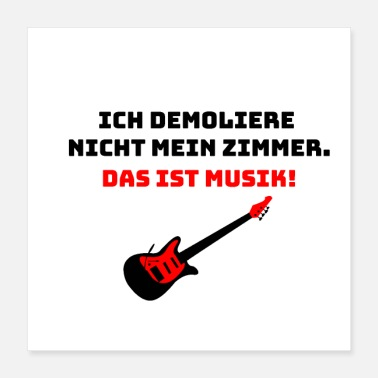 Performance I do not demolish my room - guitarist - Poster 40x40 cm