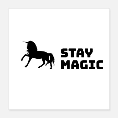 Parents Stay Magic Unicorn - Poster 40x40 cm