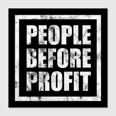 Anonymous People Before Profit Poster - Antikapitalismus - Poster 40x40 cm