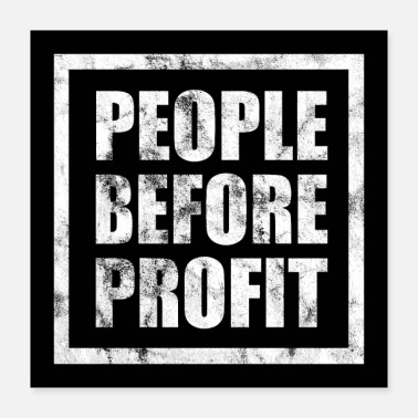 Anonymous Affiche People Before Profit - Anticapitalisme - Poster 40 x 40 cm